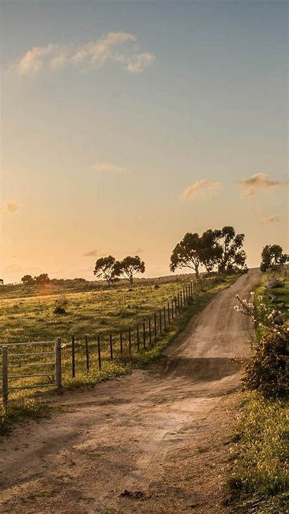 Country Screensavers Iphone Road Fence Nature