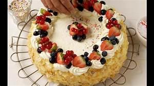 Fresh fruit decoration cake - YouTube