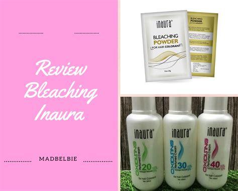 review bleaching rambut inaura  aman bleaching