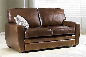 Strand leather sofa bed real leather sofabeds online for Real leather sofa bed