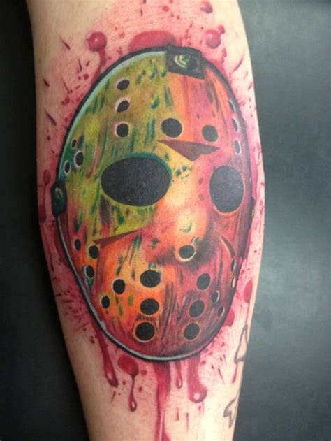 wonderful jason mask tattoos