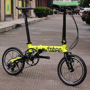fnhon aluminum folding bike 14 quot to 16 quot mini velo commuter v brake 3 speed ebay