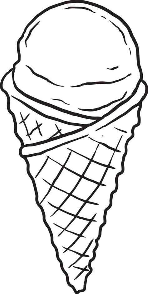 printable ice cream cone coloring page  kids