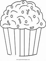 Cupcake Coloring Sprinkles Muffin Colorare Malvorlage Cupcakes Chocolate Disegno Ausmalbilder Disegni Template Printable Printables Ice Cream Diverse Birthday Malvorlagen Immagini sketch template