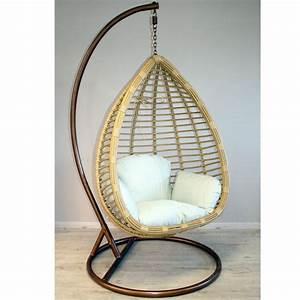 Pied Fauteuil Suspendu : fauteuil suspendu en r sine tress e naturel et beige dya ~ Teatrodelosmanantiales.com Idées de Décoration