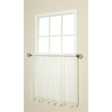 tier curtains 30 inch habitat 54 x 30 inch hathaway tailored two tier pair