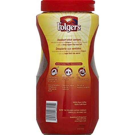 Folgers classic roast ground coffee (51 oz.) amazon.com price $12.39 ($0.05 / ounce) (as of 20:00 est more infoproduct prices and availability are accurate as of the date/time indicated and are subject to change. Folgers Classic Roast Instant Coffee Crystals - 16 Oz (Pack of 2) from J.M. SMUCKER CO ...