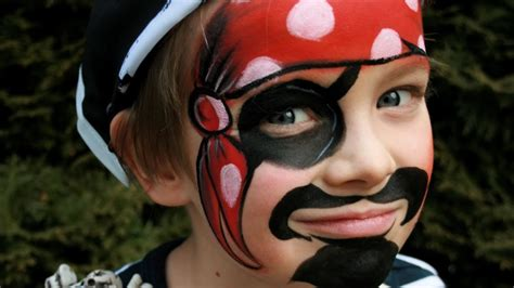 pirat schminken pirat kinderschminken vorlage video