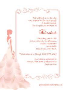printable wedding shower invitations bridal shower invitations free bridal shower invitations