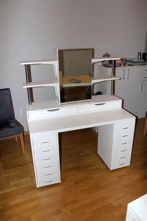 Diy Vanity Desk With Lights by Ikea Hackers Makeup Vanity With Side Shelving Plenty Of