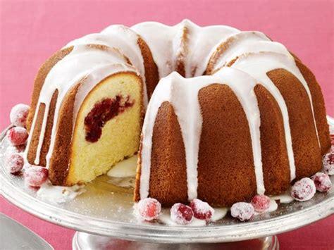bundt cake recipes meyer lemon cranberry bundt cake recipe food network kitchen food network
