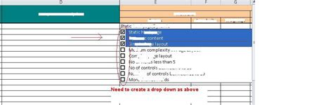 Drop List Inside Inside Templates by How To Make A Checklist In Excel 2010 How To Create A