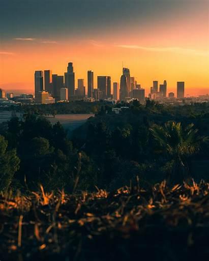 Angeles Sunset Smog Sunsets Skyline Travel Picdump