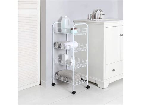 Kitchen Utility Description by Pack Of 2 4 Tier Wire Rolling Storage Kitchen Mobile