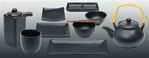 Teller Set Schwarz : asche die hochwertige matt schwarze geschirrserie bei japanwelt ~ Whattoseeinmadrid.com Haus und Dekorationen