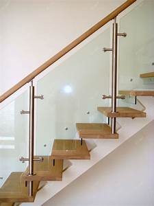 Interior Arc Tempered Glass Panel Steel Wood Stair Buy