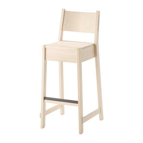 bar stool chairs ikea norr 197 ker bar stool with backrest ikea
