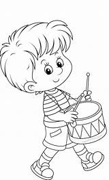 Coloring Pages Little Drummer Child Sarahtitus Ready Fun Sarah sketch template