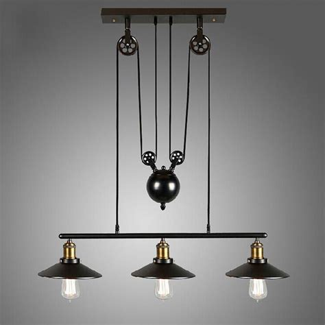 Purchase Kitchen Island - vintage pulley pendant loft ceiling light hanging l artistic lighting fixture ebay