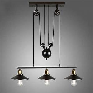 Vintage pulley pendant loft ceiling light hanging lamp