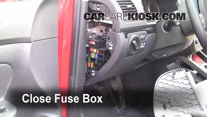interior fuse box location   volkswagen jetta