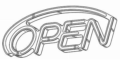 Drawing Open Neon Sign Patent Patents Google