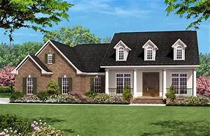 Colonial, Style, House, Plan, Ft