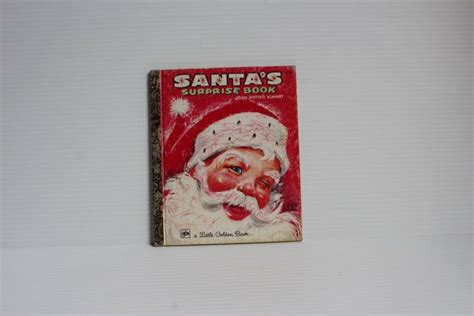 santas surprise book  vintage  golden book vintage childrens book vintage
