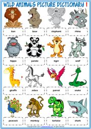 animal animal vocabulary words kindergarten