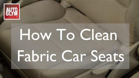 clean fabric car seats youtube