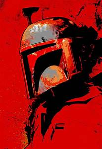 Boba Fett from Star Wars fan art illustration Canvas Art ...