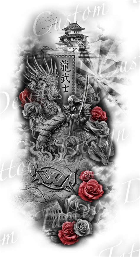 customtattoodesigns  twitter full sleeve design https