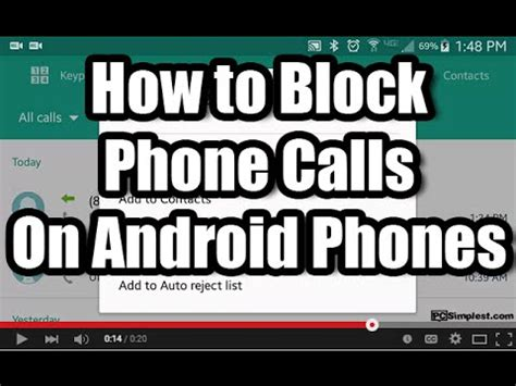 how to block numbers on android how to block phone calls on android
