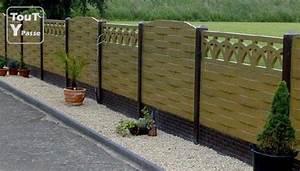 Prix Des Dalles De Jardin : cloture dalle beton jardin vaucluse ~ Premium-room.com Idées de Décoration