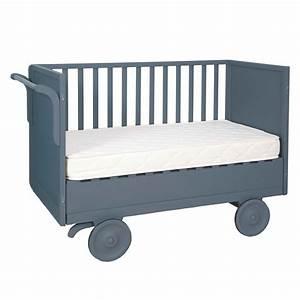 Babybett 60x120 Mit Rollen : mitwachsendes bett roulotte 60x120 cm mausgrau laurette design ~ Bigdaddyawards.com Haus und Dekorationen