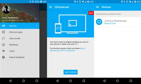 chromecast android chromecast update screen for 4 4 2 devices