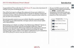 Acura Tl 2013 Owner U0026 39 S Manual  U2013 Pdf Download