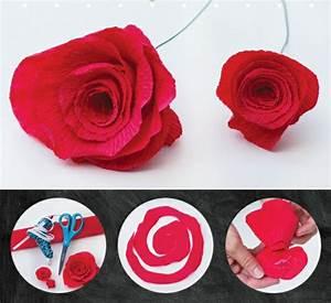 Comment Faire Des Roses En Papier : comment cr er une fleur en papier cr pon ~ Melissatoandfro.com Idées de Décoration