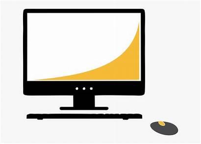 Computer Monitor Clipart Station Computers Cartoon Netclipart