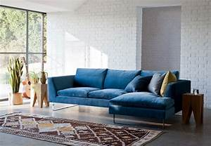 modern and stylish living room design with trendy blue With blue sofa living room design