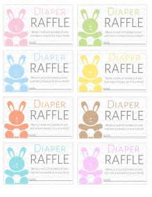 Free Printable Diaper Raffle Tickets