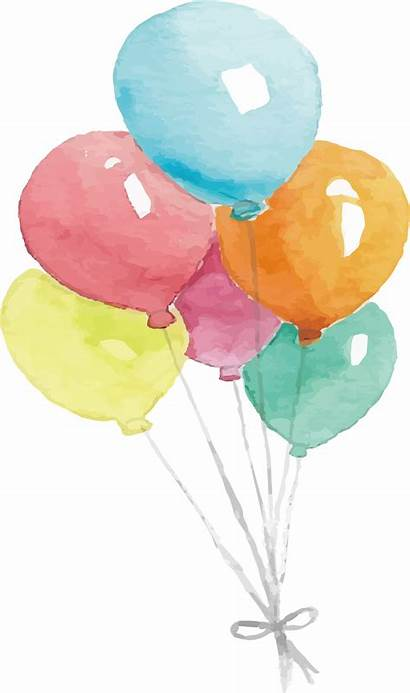 Watercolor Balloon Painting Watercolour Clipart Valentines Balloons