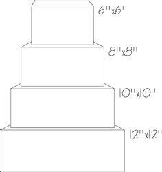 square tier cake templates moldes en  cake