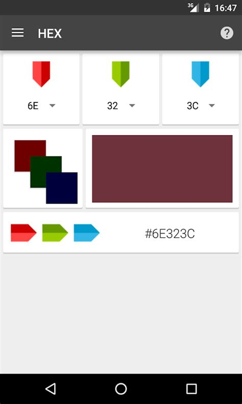 Color Mixer Color Mixer Rgb Hex Android Apps On Play