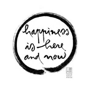 Happiness Here and Now
