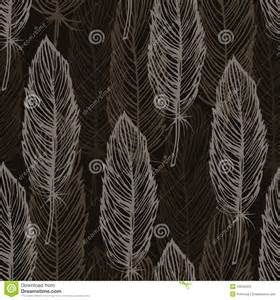 Feather Pattern Outline Vector