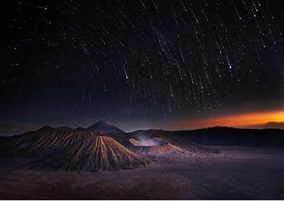 Exposure Stars Mountain Sky Landscape Weerapong Chaipuck