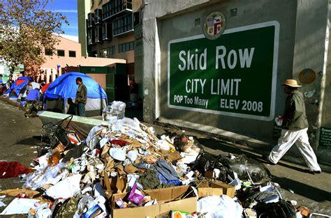 typhus zone rats  trash infest los angeles skid row