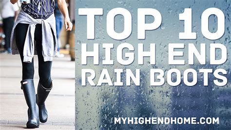 Top 10 Best High End Rain Boots For Women Youtube