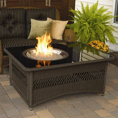 A beautiful table to sit around with your family and friends, the naples rectangular outdoor gas fire pit table is both versatile and stylish. The Outdoor GreatRoom Company Naples Coffee Table with Fire Pit & Reviews | Wayfair
